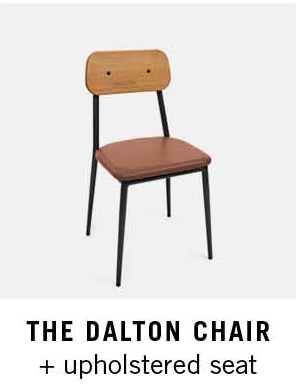 The Dalton Chair + Upholstered Seat