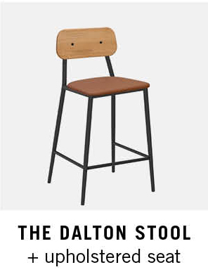 The Dalton Stool + Upholstered Seat